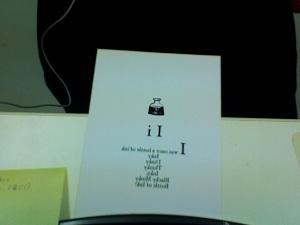 Ink postcard