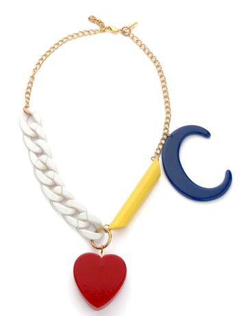 Issy Salomon Chained Heart Necklace